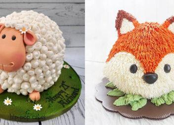 Чарівні дитячі тортики у вигляді тваринок