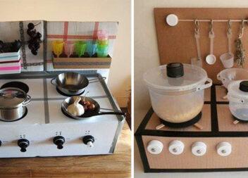 Майструємо дитячу кухню із картонних коробок