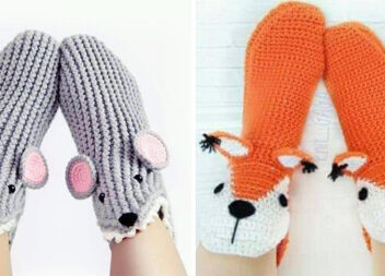Щоб ніжки були в теплі: ідеї в'язаних шкарпеток та домашніх капців (40 фото)
