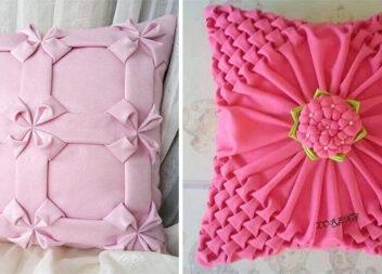 Декоративні подушки із буфами: красиві візерунки створені із тканини