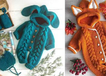 Одяг для малечі: в'яжемо комбінезони самотужки (19 чудових варіантів)
