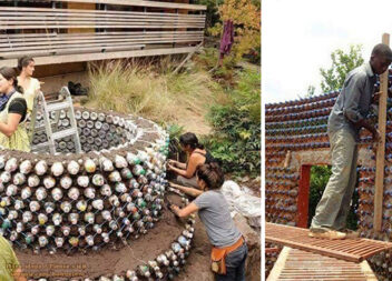 Будуємо дім із пластикових пляшок