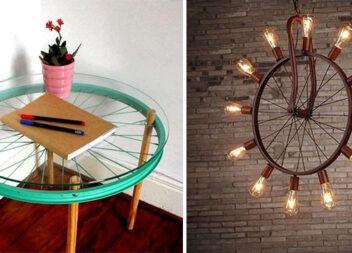 Створюємо меблі та декор із велосипедних коліс. Ідеї для натхнення