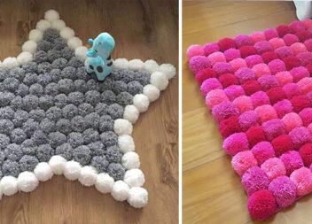 Робимо килимки із помпонів: 25 крутих ідей