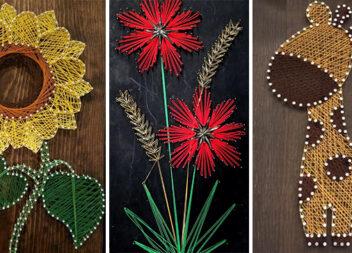 Мистецтво стінг-арту: красиві картини із ниток (ідеї та схеми)