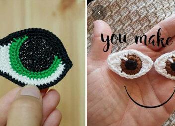 Як зв'язати гачком очі для іграшки. Схеми