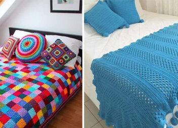 26 кольорових ідей в'язаних пледів та покривал