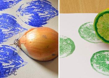 Малюємо за допомогою овочів та фруктів