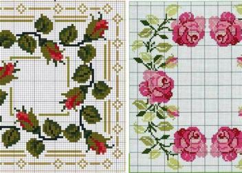 Вишивка хрестиком: трояндочки в стилі шеббі-шик. 50 схем