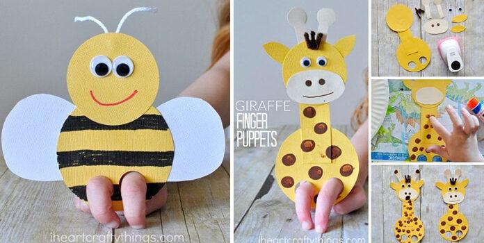 Пальчикові ігри із дітьми: виготовляємо фігурки із паперу (шаблони та ідеї)