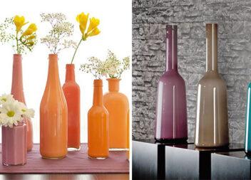 Створюємо яскраві вази із скляних пляшок самотужки. Майстер-клас