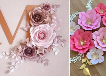 Паперові квіти: схеми та майстер-класи