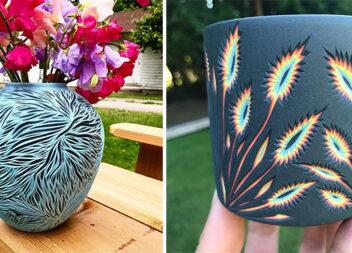 Вирізаємо красиві горщики із кольорової глини. 17 ідей
