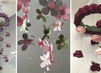 Створюємо красиві мобілі із паперу та фетру: 13 ідей