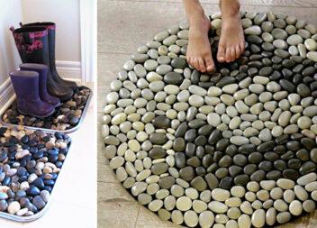Килимки із камінців - чудовий аксесуар для вашого дому