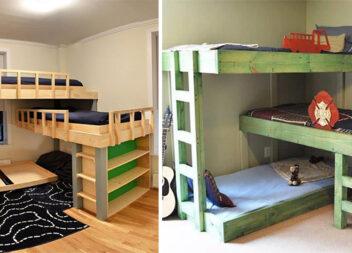 Як розмістити ліжка для 3-х дітей у спальні: 15 варіантів