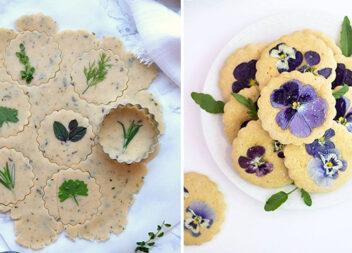 Як оригінально прикрасити печиво свіжими квіточками та листочками