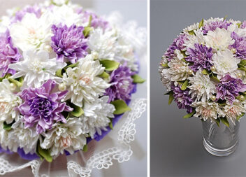 Ніжний букет квітів із фоамірану. Майстер-клас