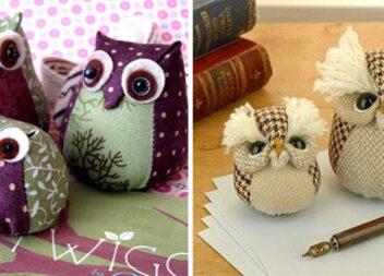 Шиємо чарівних сов з тканини: викрійки та покрокові фото