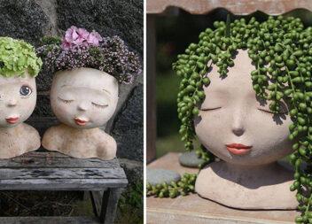 Ідеальне поєднання цементних кашпо та рослин