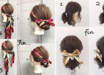 Літні зачіски із допомогою хустинки: 10 варіантів із покроковими фото