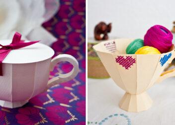 Як створити об'ємну чашку із паперу: 3 майстер-класи + шаблон