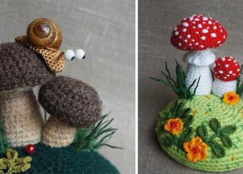 В'яжемо гачком лісові грибочки. Майстер-клас та схеми
