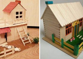 Створюємо будиночки із дерев'яних шпателів самотужки. 11 ідей