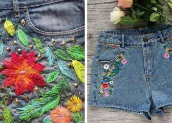 Прикрашаємо джинсові шорти вишивкою та аплікаціями. Варіанти для дітей та дорослих