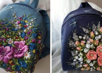 Як прикрасити сумку красивою вишивкою стрічками: 10 варіантів