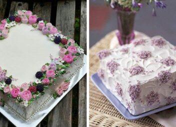 Декоруємо тортик квадратної форми: 30 смачнезних ідей