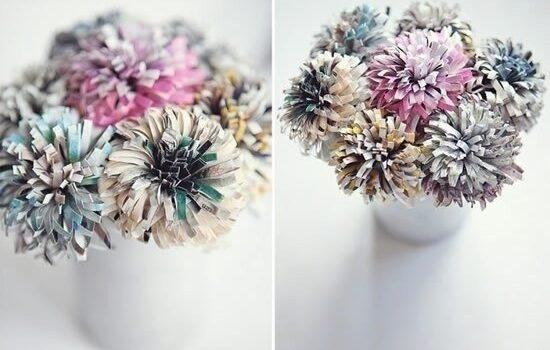 Створюємо самотужки чудові квіти зі старих журналів
