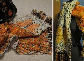 Робимо стильний шарф в техніці Crazy Wool