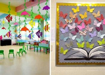 Як красиво задекорувати шкільні класи та приміщення в дитячих садочках. Паперові ідеї