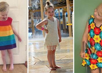 В'яжемо красиві платтячка для дівчаток: красиві ідеї + схеми