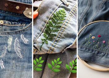 Проста, але крута вишивка по джинсовій тканині: 20 класних ідей