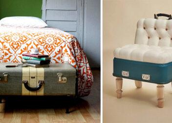 9 чудових ідей по використанню старих валіз