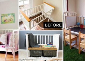 Як переробити дитяче ліжечко в потрібну та практичну річ для дому