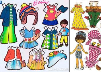 Маленький стиліст: створюємо образ для паперової ляльки (14 аркушів для друку)