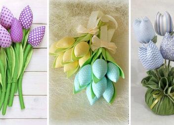 Шиємо тюльпани: чудова альтернатива живим рослинам (25 ідей)