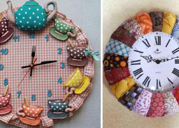 Створюємо оригінальний годинник із тканини (16 ідей)
