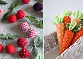 Шиємо самотужки овочі та фрукти (70 варіантів)