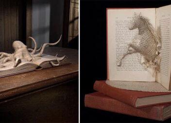 Книжкове мистецтво: скульптури та композиції зі старих книг