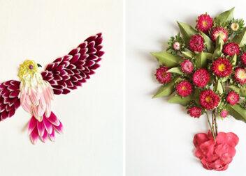 30 приголомшливих картин із живих квітів