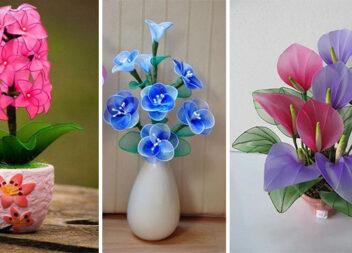 Дивовижний декор: квіти із капрону (30 ідей + невеличкі майстер-класи)