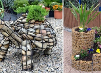 Цікаві ідеї використання габіонів біля будинку та на дачній ділянці (50 варіантів)