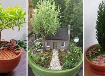 Красиві мініатюри у горщиках із рослинами: фантазуємо та декоруємо