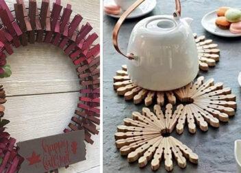 Що можна створити із дерев'яних прищіпок: 25 ідей