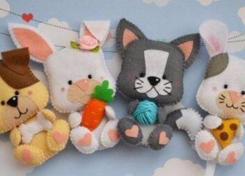 Милі іграшки з фетру із однієї викрійки: створюємо різних звірят