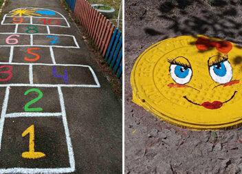 Ігри на асфальті та красивий декор фарбами. 30 ідей